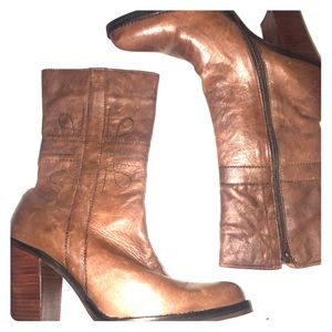 Vintage Zodiac leather pointed toe western boots